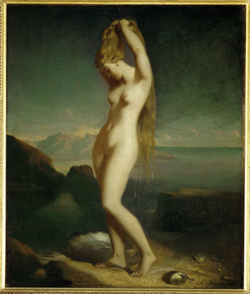 Th.Chasseriau, Venus Anadyomene -  - Theodore Chasseriau, Venus Anadyomene